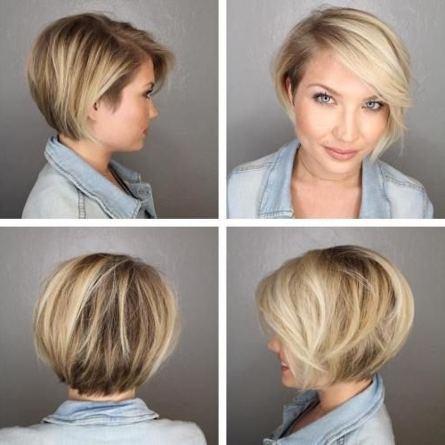 70 Cute And Easy To Style Short Layered Hairstyles | Hairstyles With Current Side Parted Blonde Balayage Pixie Hairstyles (View 6 of 25)