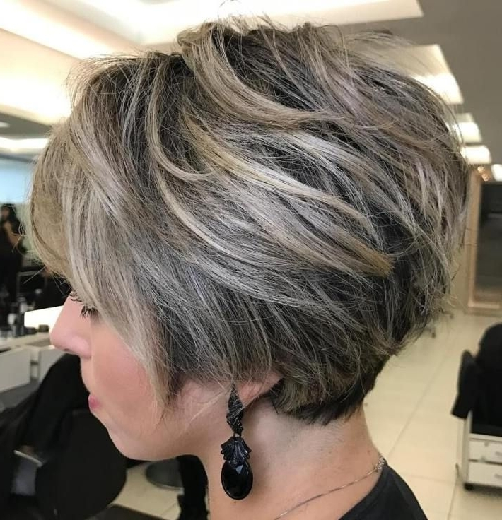 70 Cute And Easy To Style Short Layered Hairstyles | Pinterest Inside Newest Balayage Pixie Hairstyles With Tiered Layers (Gallery 13 of 25)