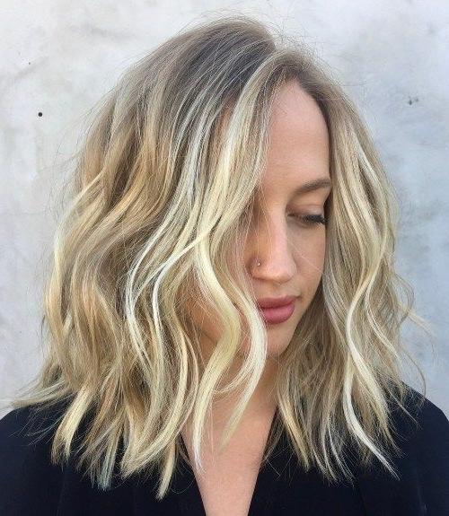 70 Darn Cool Medium Length Hairstyles For Thin Hair | Blonde Within Chamomile Blonde Lob Hairstyles (View 8 of 25)