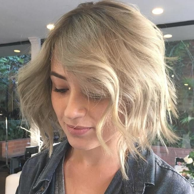 70 Devastatingly Cool Haircuts For Thin Hair | Ash Blonde Bob Within Shaggy Fade Blonde Hairstyles (View 4 of 25)
