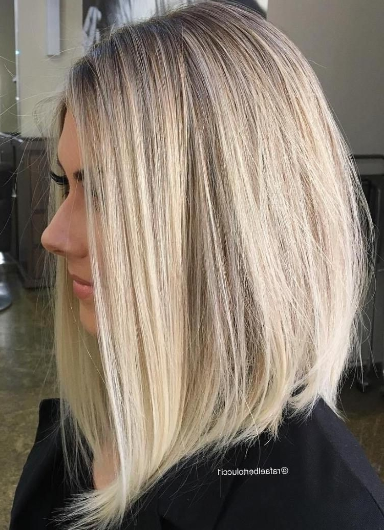 70 Devastatingly Cool Haircuts For Thin Hair | Beauty | Pinterest Regarding Striking Angled Platinum Lob Blonde Hairstyles (Gallery 2 of 25)