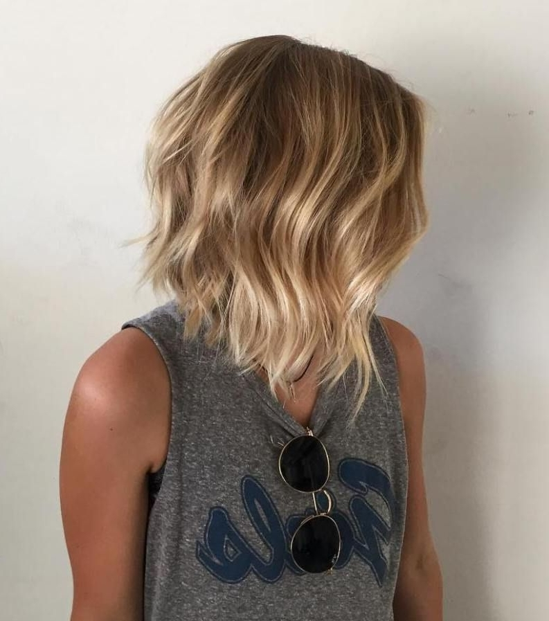 70 Devastatingly Cool Haircuts For Thin Hair | Blonde Balayage Intended For Chamomile Blonde Lob Hairstyles (Gallery 22 of 25)