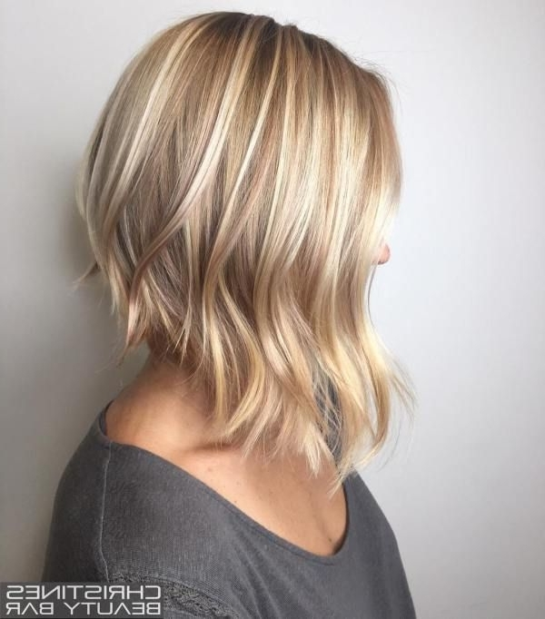 70 Fabulous Choppy Bob Hairstyles | Blonde Lob, Fine Hair And Lob Inside Chamomile Blonde Lob Hairstyles (Gallery 2 of 25)