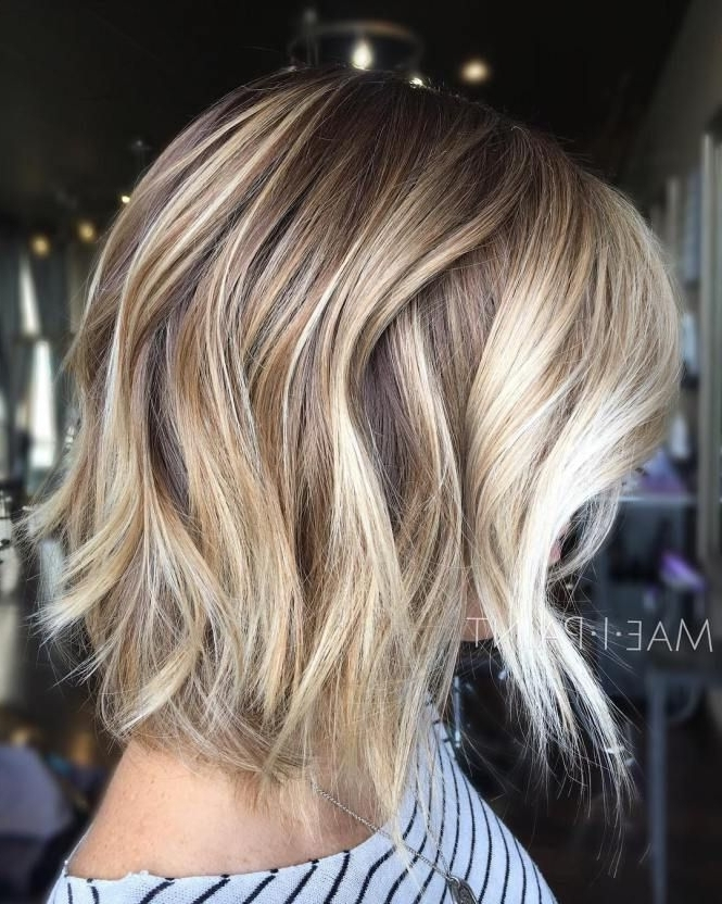 70 Fabulous Choppy Bob Hairstyles | Caramel Blonde, Blonde Bobs And Bobs Throughout Curly Caramel Blonde Bob Hairstyles (View 21 of 25)