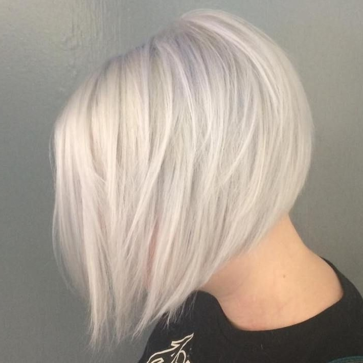 70 Fabulous Choppy Bob Hairstyles | Hair | Pinterest | White Blonde With Long Blonde Bob Hairstyles In Silver White (View 9 of 25)