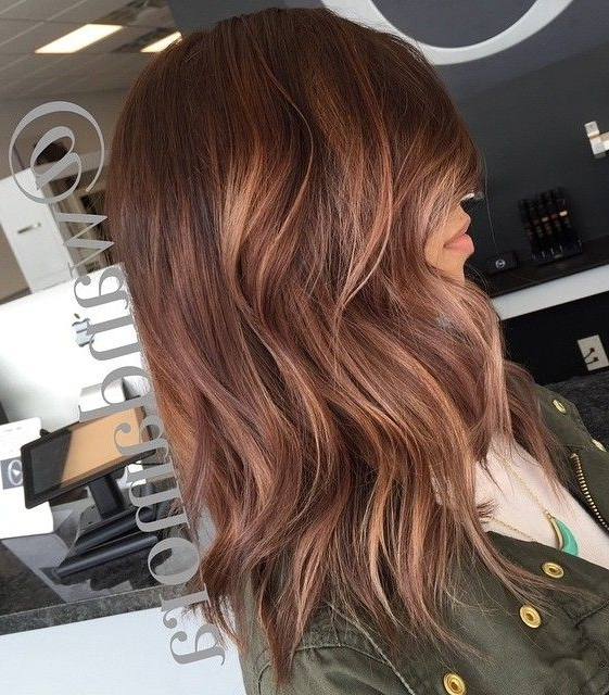 70 Flattering Balayage Hair Color Ideas For 2018 | Hair And Makeup Intended For Rosewood Blonde Waves Hairstyles (Gallery 9 of 25)