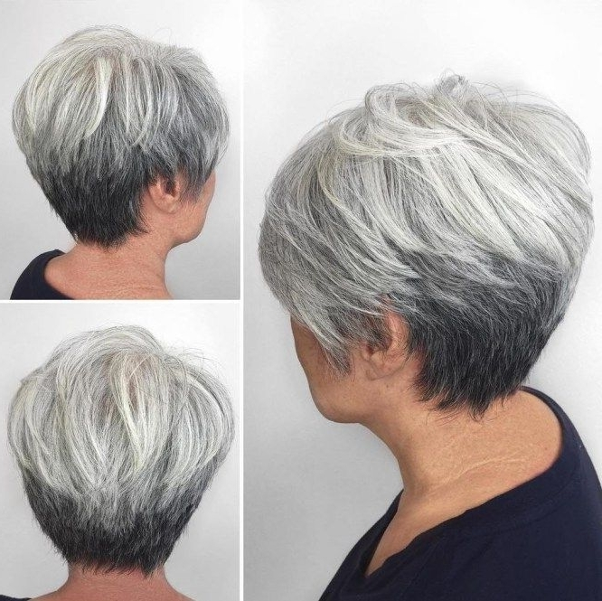 70 Short Shaggy, Spiky, Edgy Pixie Cuts And Hairstyles | Gray Ombre In Most Current Reverse Gray Ombre Pixie Hairstyles For Short Hair (Gallery 1 of 25)
