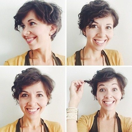 70 Short Shaggy, Spiky, Edgy Pixie Cuts And Hairstyles | Hair And Inside Newest Growing Out Pixie Hairstyles For Curly Hair (Gallery 2 of 25)