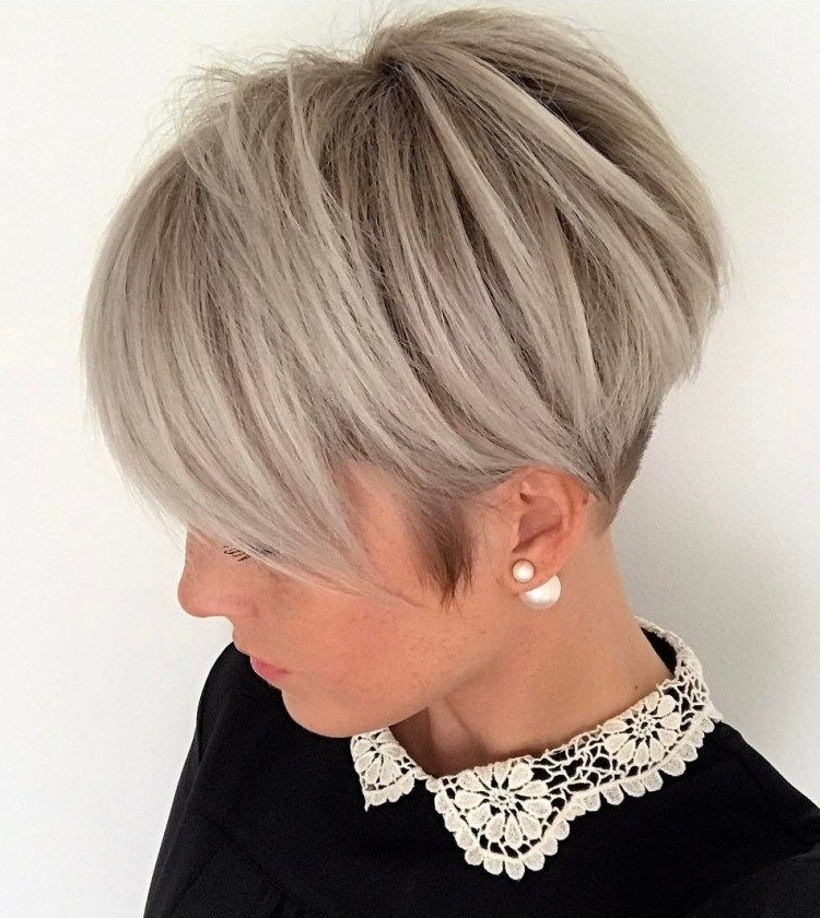 Featured Photo of Ash Blonde Pixie Hairstyles With Nape Undercut