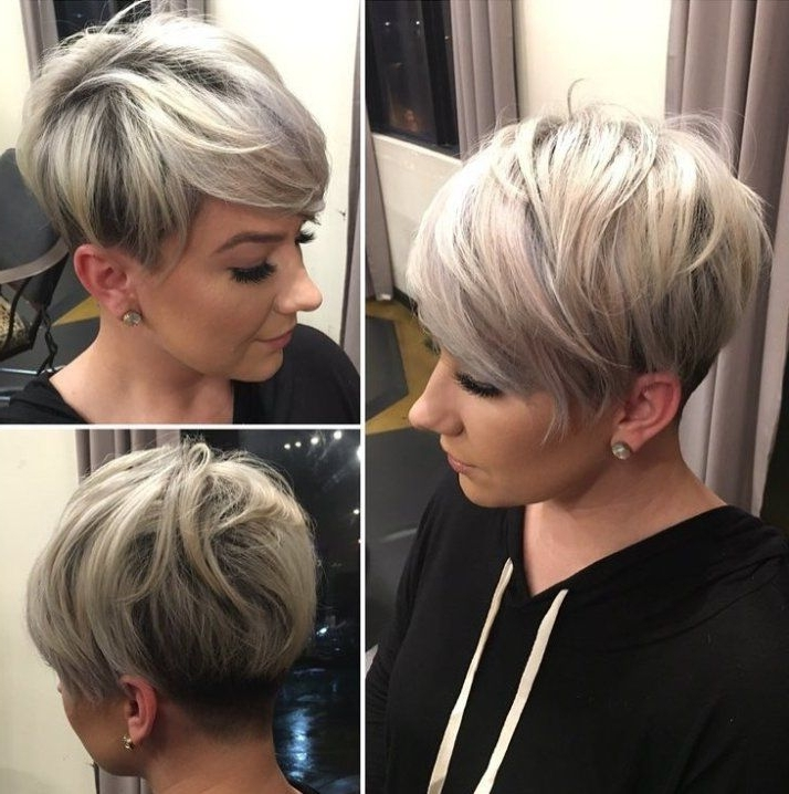 70 Short Shaggy, Spiky, Edgy Pixie Cuts And Hairstyles | Ikke For Sassy Silver Pixie Blonde Hairstyles (View 7 of 25)