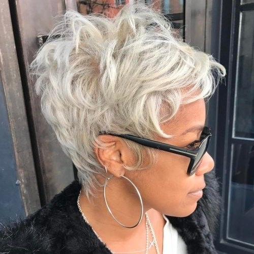 70 Short Shaggy, Spiky, Edgy Pixie Cuts And Hairstyles | Luscious With Sassy Silver Pixie Blonde Hairstyles (View 13 of 25)