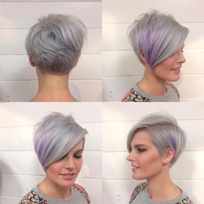 70 Short Shaggy, Spiky, Edgy Pixie Cuts And Hairstyles   Pixie Bob With Regard To Best And Newest Lavender Pixie Bob Hairstyles (Gallery 1 of 25)