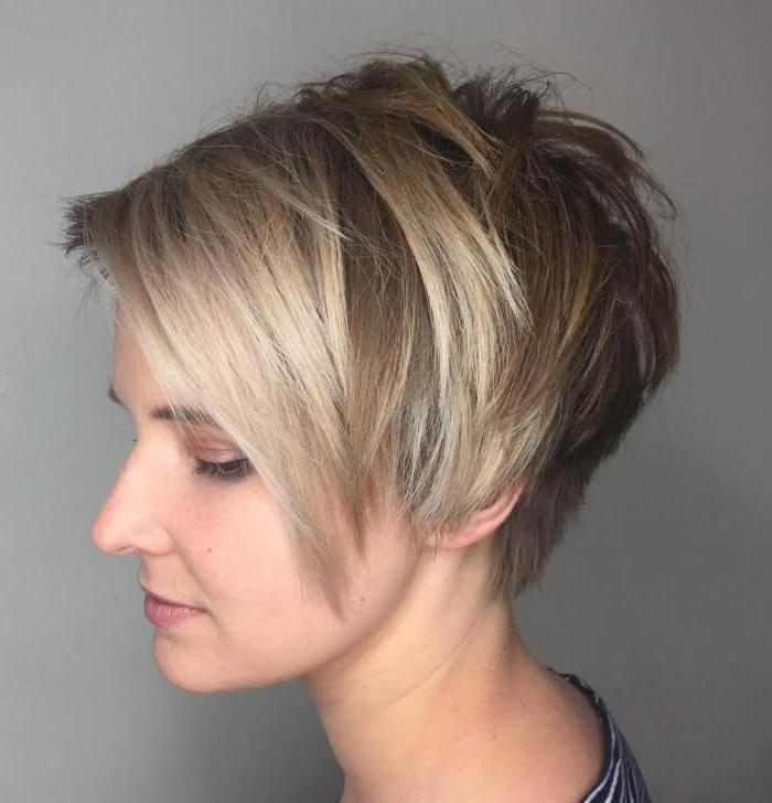 70 Short Shaggy, Spiky, Edgy Pixie Cuts And Hairstyles | Pixie Bob Within Current Choppy Side Parted Pixie Bob Hairstyles (Gallery 1 of 25)