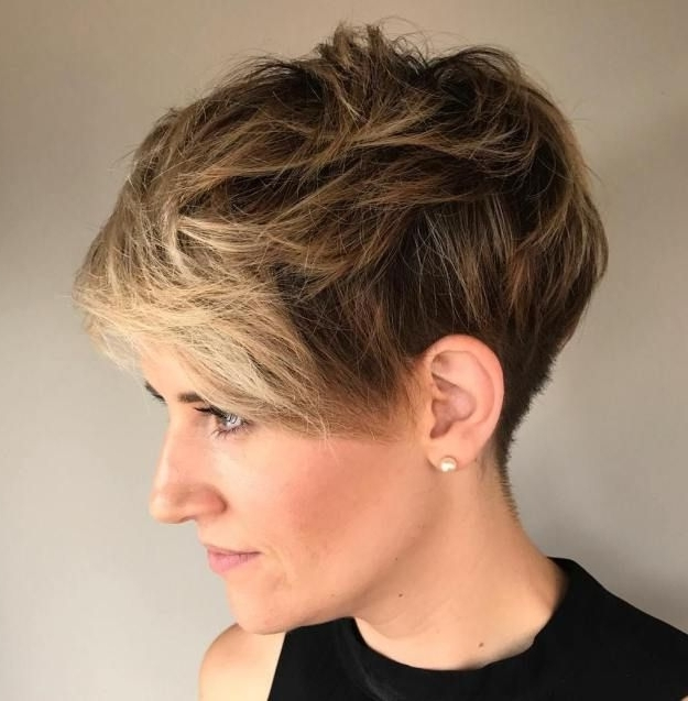 Featured Photo of Messy Tapered Pixie Hairstyles