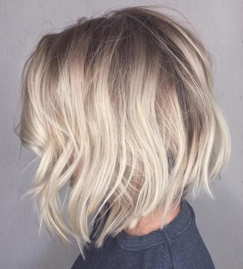 70 Winning Looks With Bob Haircuts For Fine Hair   Hair Styles And Pertaining To Platinum Blonde Bob Hairstyles With Exposed Roots (Gallery 2 of 25)