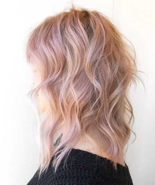 71 Alluring Rose Gold Hair Color Ideas To Try In 2018 In Rosewood Blonde Waves Hairstyles (View 21 of 25)