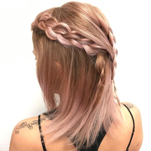 71 Alluring Rose Gold Hair Color Ideas To Try In 2018 Within Golden Bronze Blonde Hairstyles (View 13 of 25)