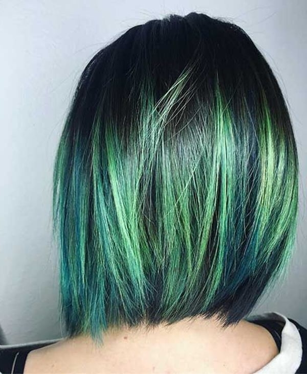 71 Green Hair Dye Ideas That You Will Love – Style Easily Regarding Blonde Hairstyles With Green Highlights (View 16 of 25)