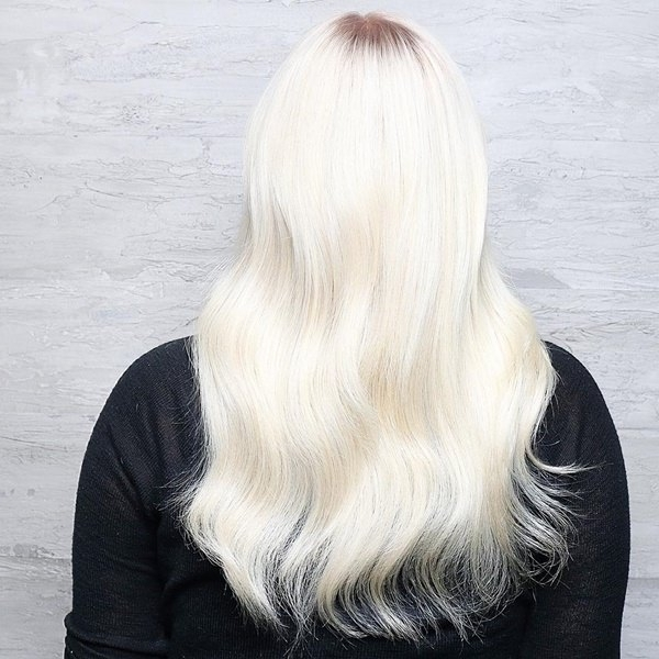 75 Hot Platinum Blonde Hairstyles For Your Next Salon Appointment In Platinum Blonde Long Locks Hairstyles (View 14 of 25)