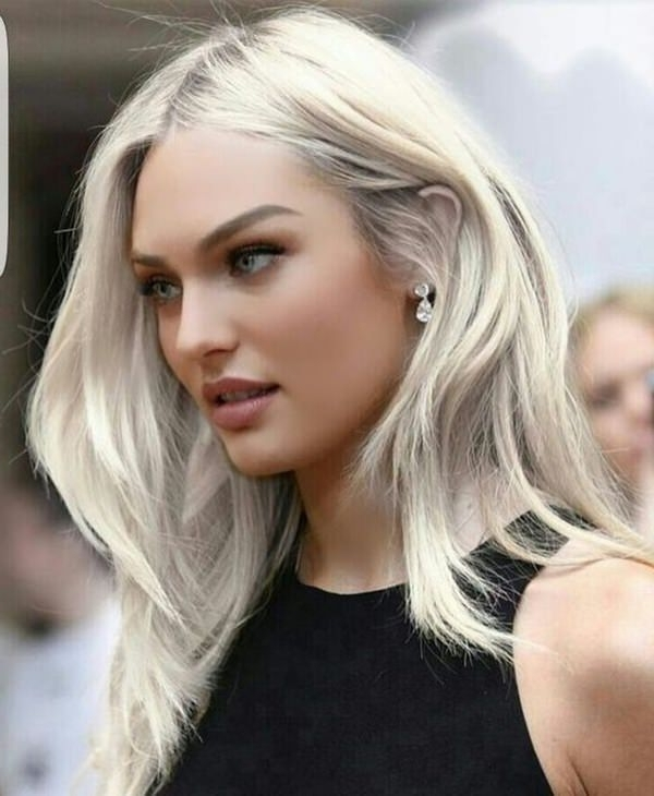 75 Hot Platinum Blonde Hairstyles For Your Next Salon Appointment Regarding Platinum Blonde Hairstyles With Darkening At The Roots (Gallery 11 of 25)