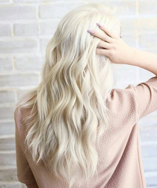 75 Hot Platinum Blonde Hairstyles For Your Next Salon Appointment Throughout Platinum Braided Updo Blonde Hairstyles (Gallery 21 of 25)