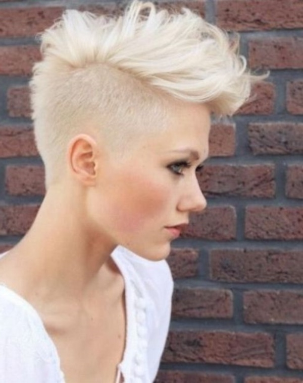 78 Grey Hairstyles To Try For A Hot New Look With Regard To Most Up To Date Bleach Blonde Pixie Hairstyles (Gallery 11 of 25)
