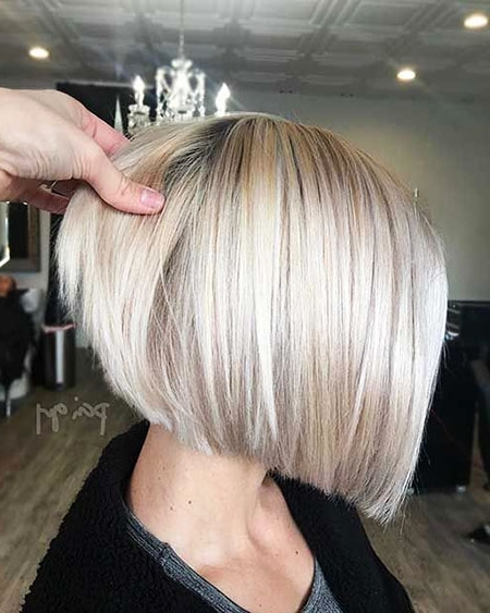 78 Latest Short Bob Hairstyle Ideas | Short Hairstyles & Haircuts 2018 For Short Silver Blonde Bob Hairstyles (View 9 of 25)