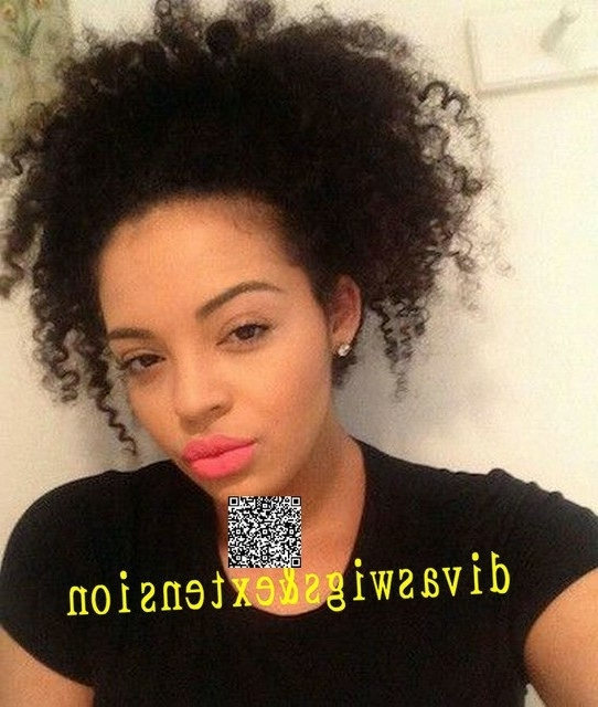 7A Afro Kinky Curly Ponytail Brazilian Virgin Hair Clipin Human Hair Inside Embellished Drawstring Ponytail Hairstyles (Gallery 23 of 25)