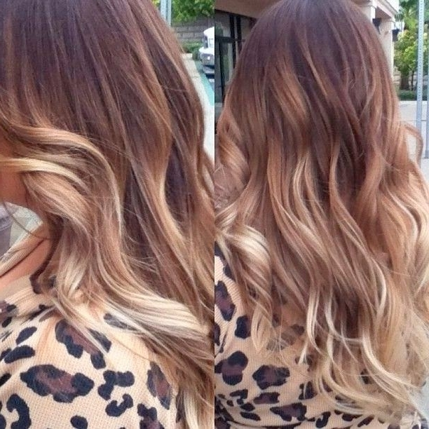 8 Amazing Hair Color With Caramel Highlights | Hairstyles & Hair Pertaining To Browned Blonde Peek A Boo Hairstyles (View 17 of 25)
