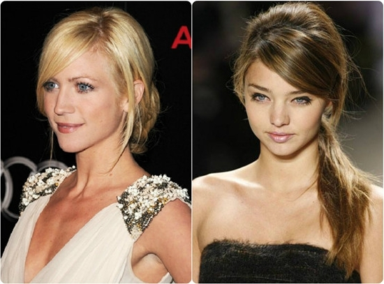 8 Best And Glamorous Hairstyles For Round Face – Vpfashion Pertaining To Glamorous Pony Hairstyles With Side Bangs (Gallery 15 of 25)