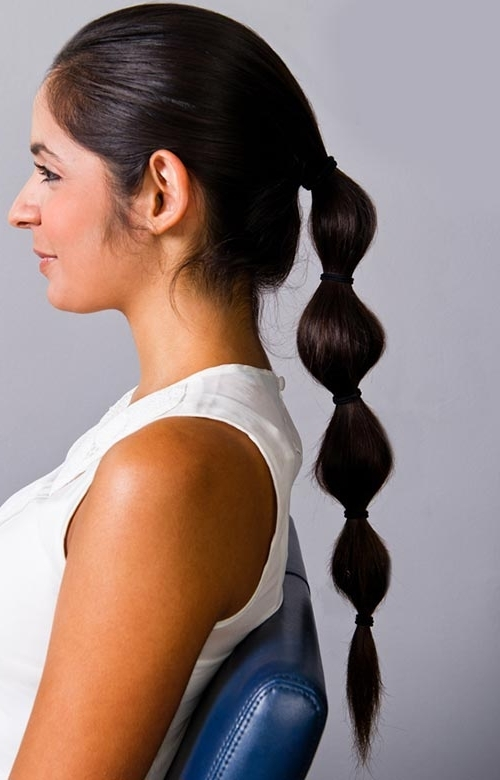 8 Easy And Cute Hairstyles For Lazy Girls | Fashionisers In High Bubble Ponytail Hairstyles (View 24 of 25)