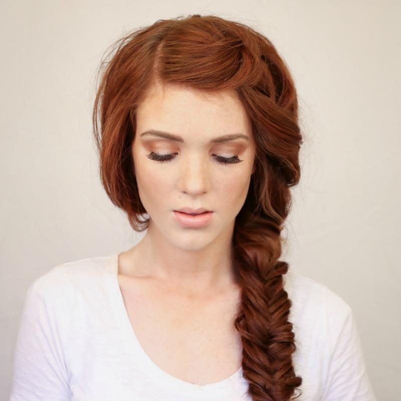 8 Ways To Braid Curly Hair – Viewkick Intended For Wavy Side Fishtail Hairstyles (View 18 of 25)