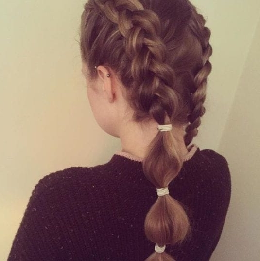 8 Ways To Style A Bubble Pony When A Regular Ponytail Just Won't Cut It With Regard To Bubbly Blonde Pony Hairstyles (Gallery 10 of 25)