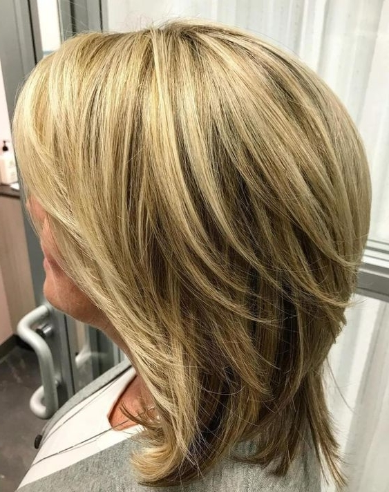 80 Best Modern Haircuts And Hairstyles For Women Over 50 | Pinterest Regarding Shoulder Grazing Strawberry Shag Blonde Hairstyles (Gallery 7 of 25)