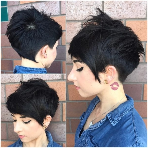 80 Best Pixie Cut Hairstyles – Trending Pixie Cuts For Women 2018 Intended For Most Popular Platinum Blonde Disheveled Pixie Hairstyles (Gallery 24 of 25)