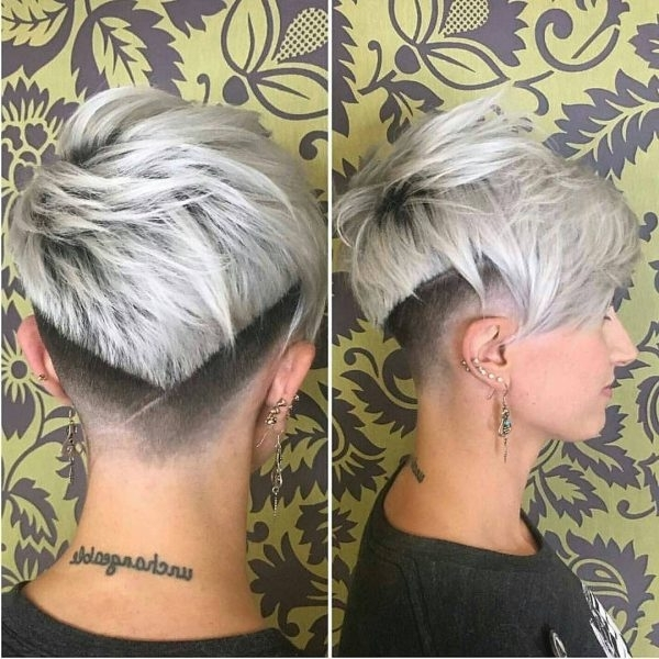 80 Best Pixie Cut Hairstyles – Trending Pixie Cuts For Women 2018 Regarding Most Recently Stacked Pixie Hairstyles With V Cut Nape (Gallery 23 of 25)
