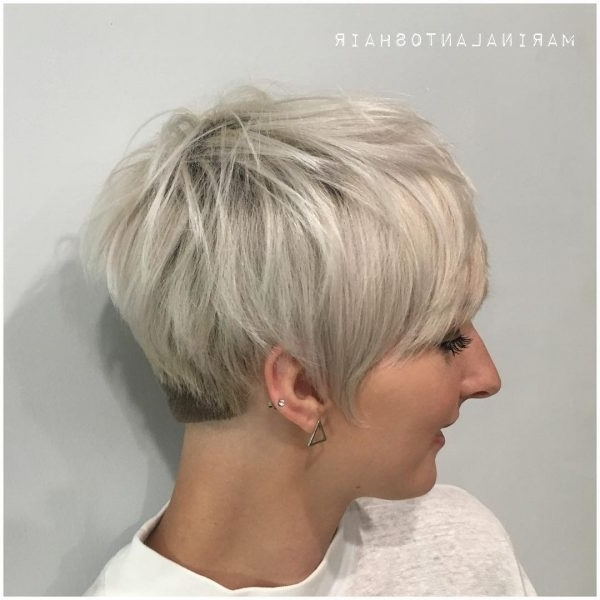 80 Best Pixie Cut Hairstyles – Trending Pixie Cuts For Women 2018 With Regard To Latest Platinum Blonde Disheveled Pixie Hairstyles (View 6 of 25)