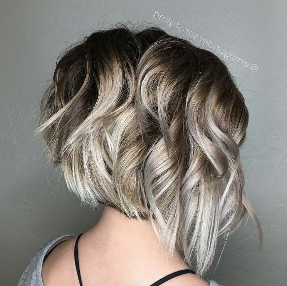 80 Fabulous Wavy Bob Hairstyles | Hair | Pinterest | Blonde Ombre Regarding Icy Blonde Shaggy Bob Hairstyles (View 8 of 25)