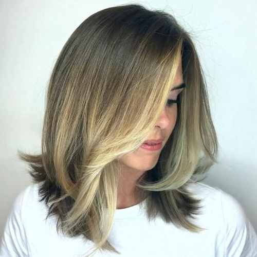 80 Sensational Medium Length Haircuts For Thick Hair | Haircut Ideas Intended For Dishwater Blonde Hairstyles With Face Frame (View 9 of 25)