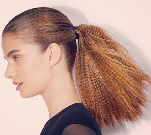 80S/'90S Crimped Hair Is Back: Here's How To Wear It This Time Around Pertaining To Crimped Pony Look Ponytail Hairstyles (Gallery 5 of 25)