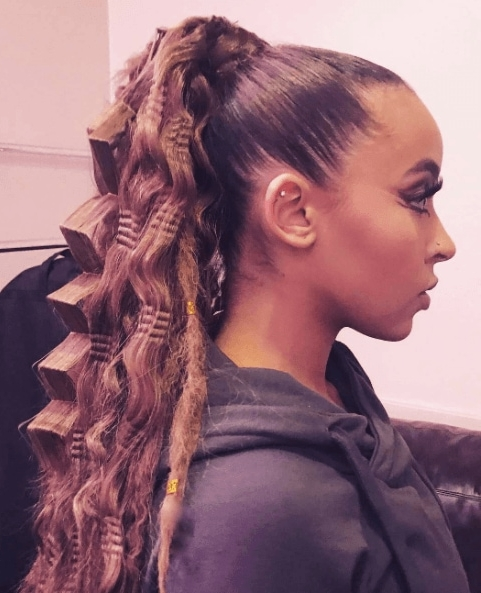 80S/'90S Crimped Hair Is Back: Here's How To Wear It This Time Around Throughout Crimped Pony Look Ponytail Hairstyles (View 15 of 25)