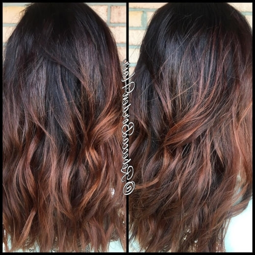 81 Auburn Hair Color Ideas In 2018 For Red Brown Hair Pertaining To Blonde Color Melt Hairstyles (View 20 of 25)