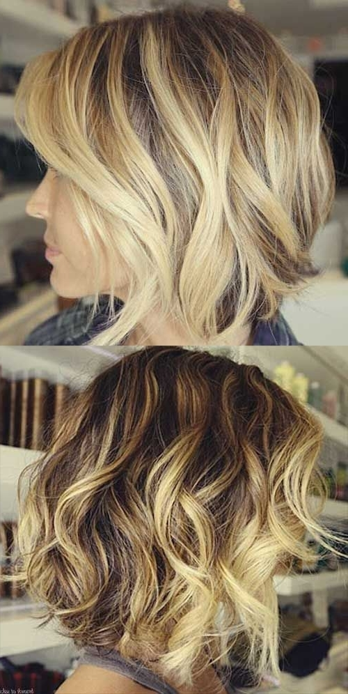 81 Best Random Loves Images On Pinterest | Hair Cut, Make Up Looks Intended For Curly Highlighted Blonde Bob Hairstyles (View 11 of 25)