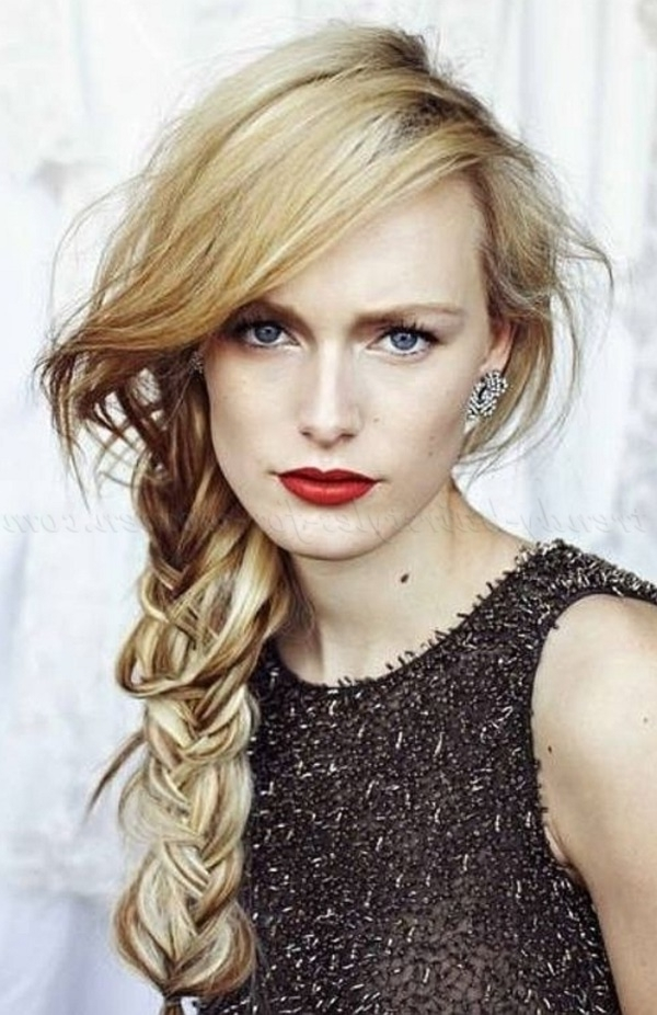 82 Of The Most Romantic And Inspiring Side Ponytails In Ladder Braid Side Ponytail Hairstyles (Gallery 11 of 25)