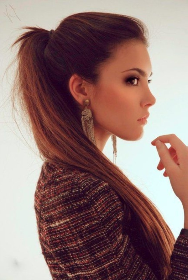 82 Of The Most Romantic And Inspiring Side Ponytails Intended For Ponytail Hairstyles For Brunettes (View 10 of 25)