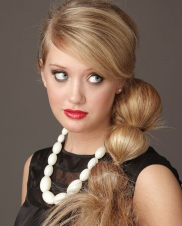 82 Of The Most Romantic And Inspiring Side Ponytails Pertaining To Fancy And Full Side Ponytail Hairstyles (Gallery 3 of 25)