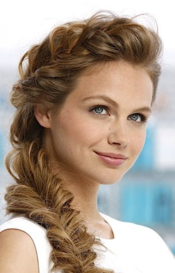 82 Of The Most Romantic And Inspiring Side Ponytails Within Brunette Ponytail Hairstyles With Braided Bangs (Gallery 19 of 25)