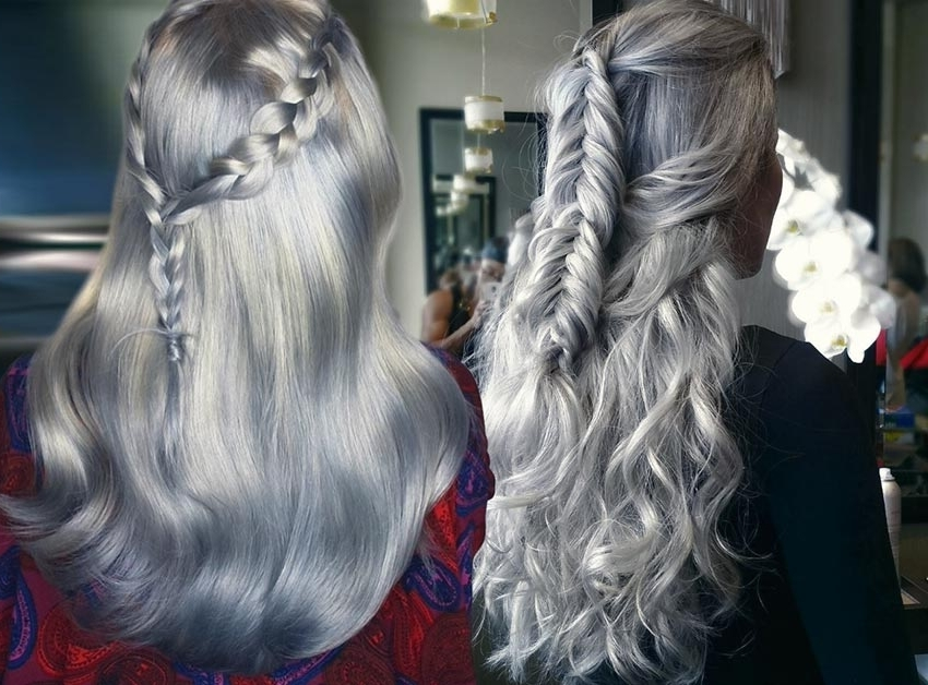 85 Silver Hair Color Ideas And Tips For Dyeing, Maintaining Your For Glamorous Silver Blonde Waves Hairstyles (View 19 of 25)