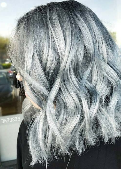 85 Silver Hair Color Ideas And Tips For Dyeing, Maintaining Your In Soft Waves Blonde Hairstyles With Platinum Tips (Gallery 22 of 25)