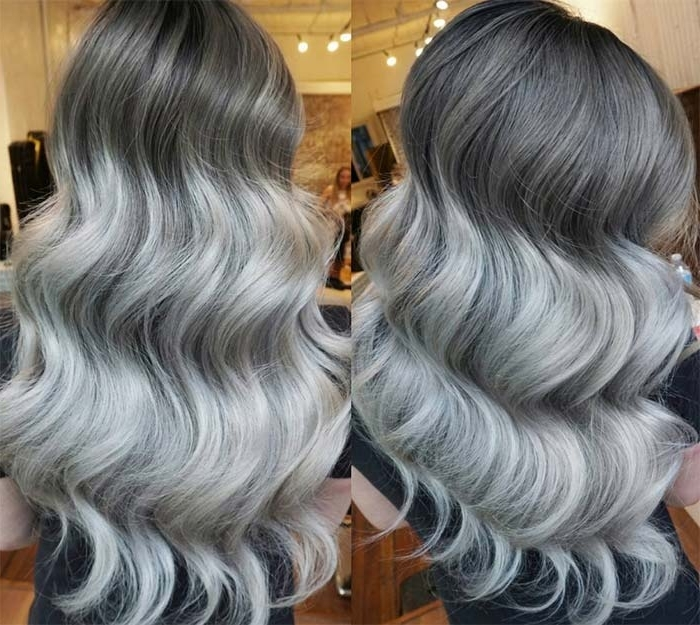 85 Silver Hair Color Ideas And Tips For Dyeing, Maintaining Your Intended For Icy Ombre Waves Blonde Hairstyles (View 16 of 25)